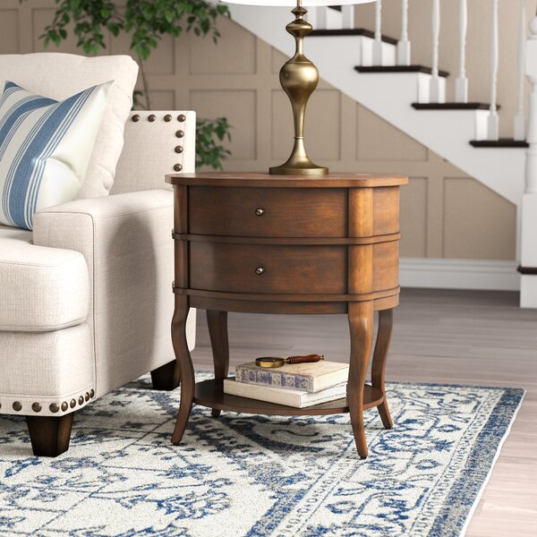 Lourdes 2 Drawer End Table By Darby Home Co