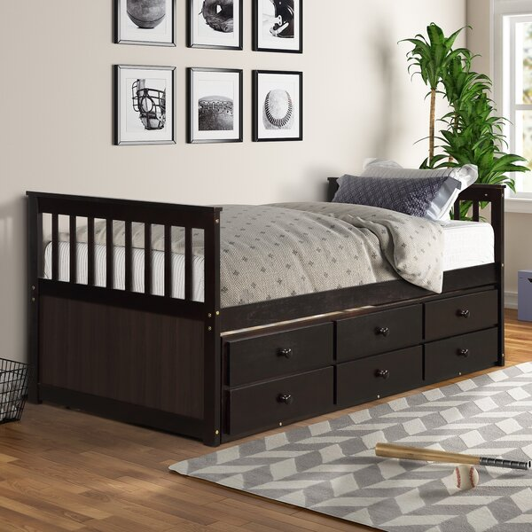 Norval Twin Platform with Trundle with 3 Drawers by Harriet Bee