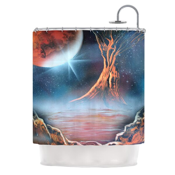 Embark by Infinite Spray Art Nature Shower Curtain by East Urban Home