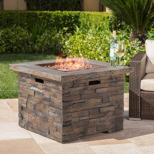 Where buy  Altair Stone Propane Fire Pit Table By17 Stories