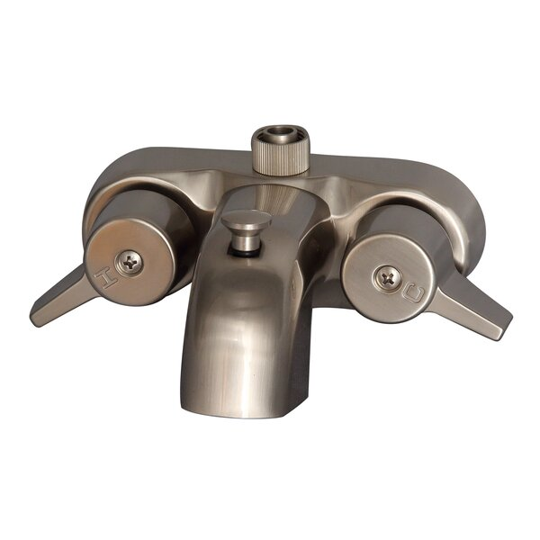 Double Handle Wall Mounted Clawfoot Tub Faucet by Barclay