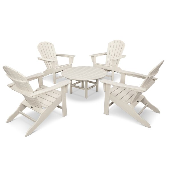 South Beach 5 Piece Multiple Chairs Seating Group by POLYWOOD®