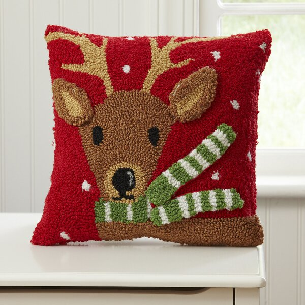 Reindeer Huggable Hooked Pillow by Birch Lane Kids™
