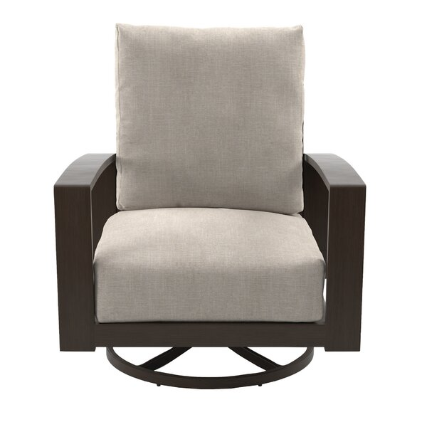Jay Swivel Patio Chair with Cushion (Set of 2) by Mistana