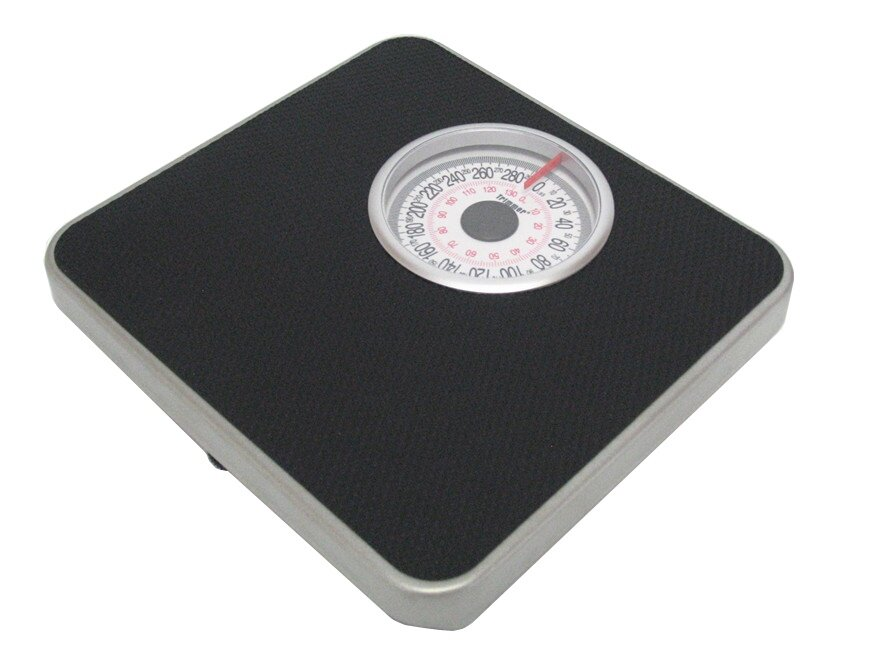 Trimmer Silver Frame Mechanical Bathroom Scale With Round Display U0026 Reviews  | Wayfair