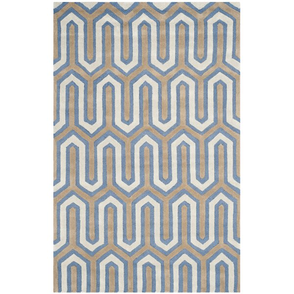 Martins Hand-Tufted Navy/Gray Area Rug by Wrought Studio