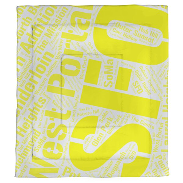San Francisco, California Single Reversible Comforter