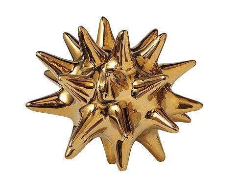 Urchin Shiny Gold Object by DwellStudio