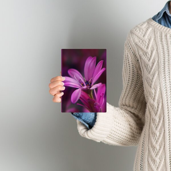 Macro Flower Blossom Photographic Print on Wrapped Canvas in Purple by East Urban Home