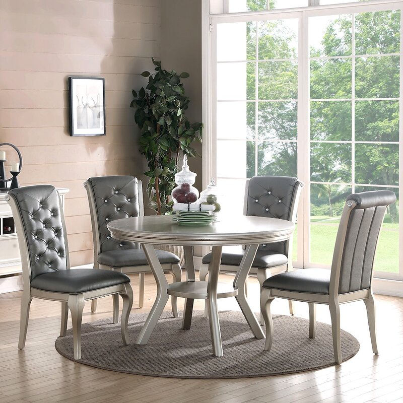 Infini furnishings adele 5 piece dining set reviews for Wayfair comedores