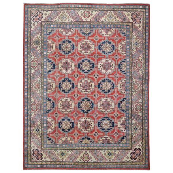 One-of-a-Kind Abbotsford Oriental Handspun Wool Red/Blue Area Rug by Isabelline