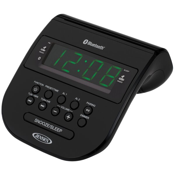 Bluetooth Clock Radio with Cellphone Holder by Jensen