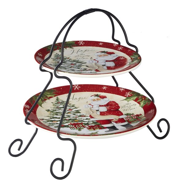 Gianna 2-Tier 2 Piece Tiered Stand Set by The Holiday Aisle