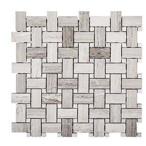 Misty Harbor 12 x 12 Mount Olympus Mosaic Tile in Gray by Kellani