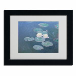 Waterlilies Evening by Claude Monet Painting Print on Canvas by Trademark Fine Art