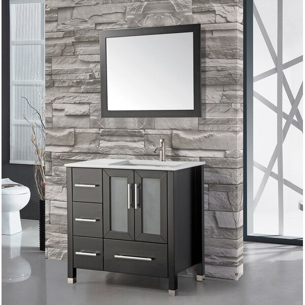 Nadeau 36 Single Sink Bathroom Vanity Set with Mirror by Ivy Bronx