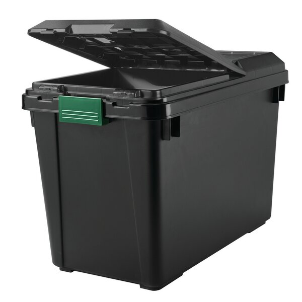 102 qt Heavy Duty Store-It All Plastic Storage Tote with Lid (Set of 4) by Remington