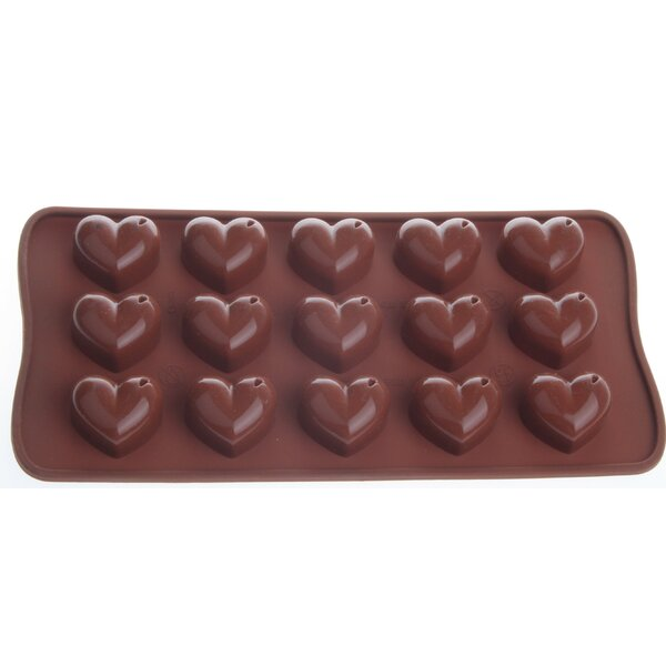 Non-Stick Cool Silicone Heart Chocolate Mould (Set of 2) by MyCuisina