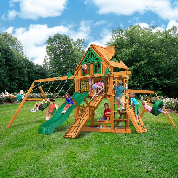 Frontier Treehouse Swing Set by Gorilla Playsets