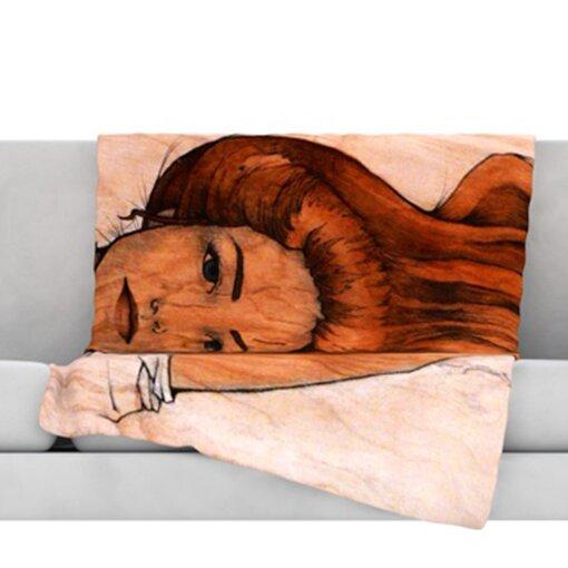 Girl Throw Blanket by KESS InHouse