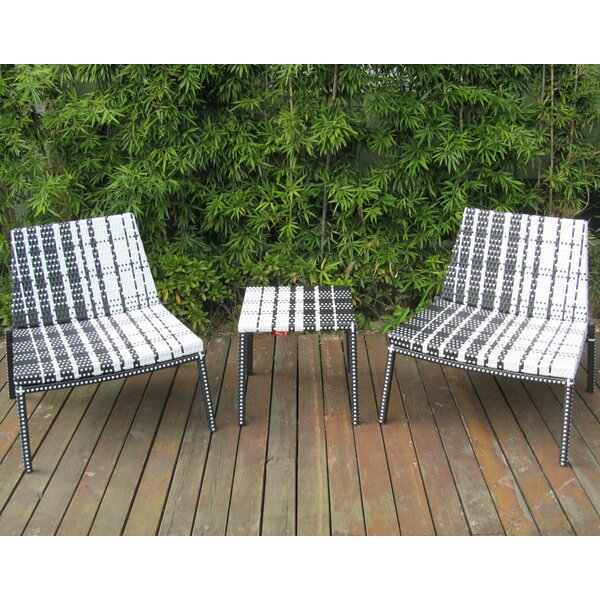 Lutjens 3 Piece Rattan Seating Group by Wrought Studio