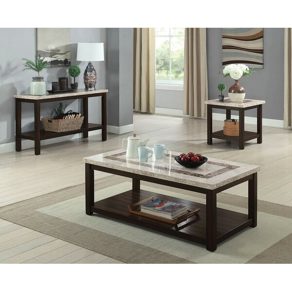 Crewkerne 3 Piece Coffee Table Set by Canora Grey