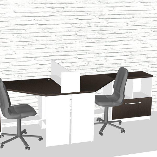 Triangular Corner 5 Piece L-Shaped Desk Office Suite by TeamCENTERoffice