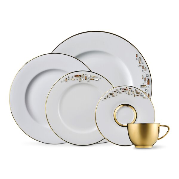 Diana Gold 5 Piece Bone China Place Setting Set, Service for 1