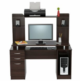 Grigori Engineered Wood Computer Desk with Hutch
