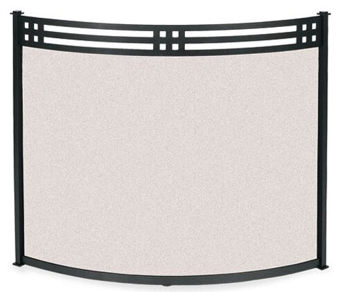 Bowed Portfolio Single Panel Steel Fireplace Screen By Pilgrim Hearth