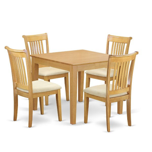 Cobleskill 5 Piece Breakfast Nook Solid Wood Dining Set by Alcott Hill