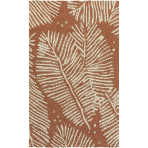 Fort Hand-Tufted Rust/Ivory Indoor/Outdoor Area Rug by Bay Isle Home