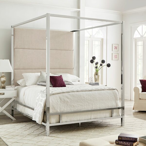 Moyers Upholstered Canopy Bed by Mercury Row