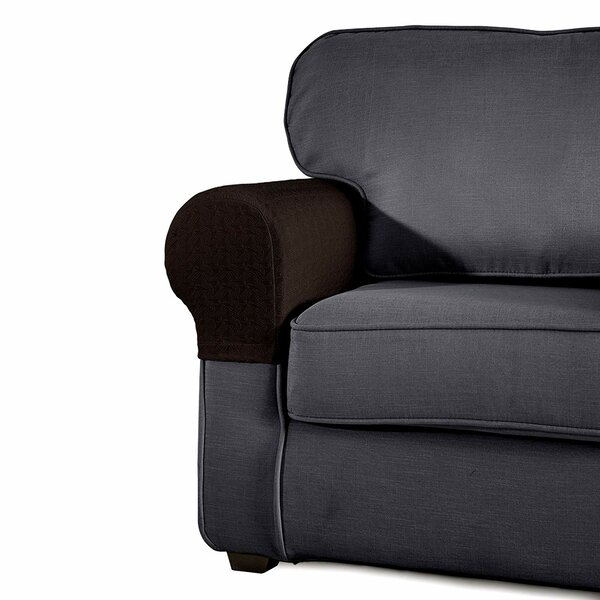 Jacquard Armrest Sofa Silpcover (Set of 2) by Winston Porter
