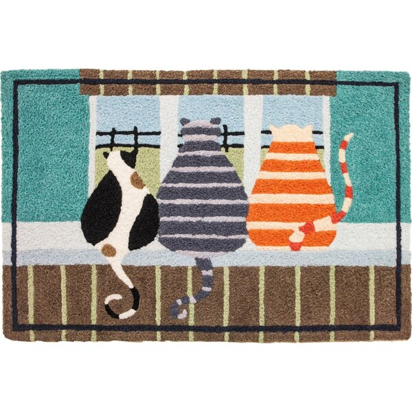 Beardsley Inside Looking Out Hand-Tufted Blue/Brown/Black Indoor/Outdoor Area Rug by Winston Porter