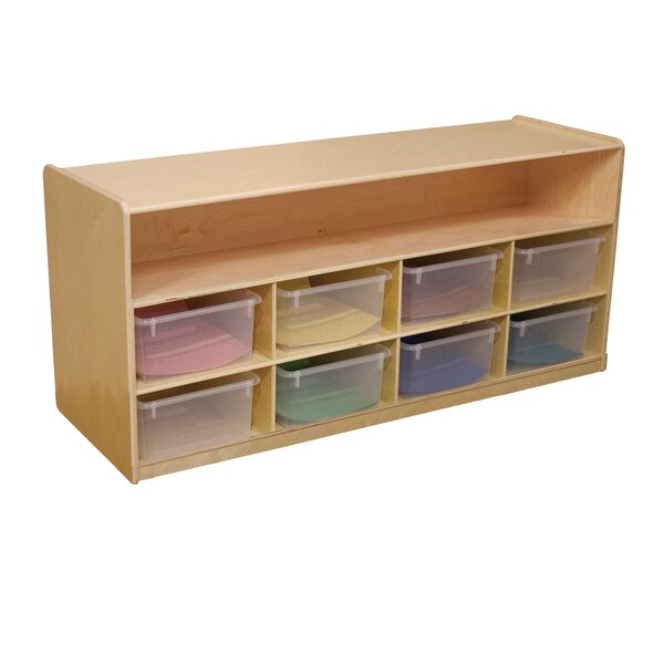 8 Compartment Shelving Unit with Casters by Wood Designs