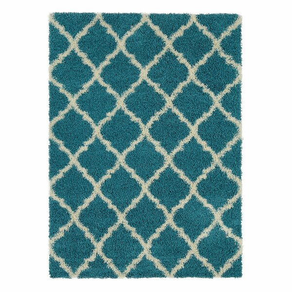Radford Soft Turquoise Shaggy Area Rug by Wrought Studio