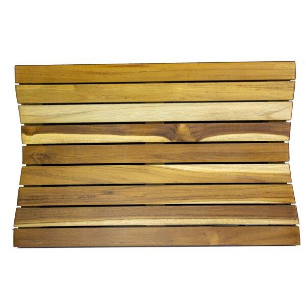 Ecodecors Rectangle Teak & Wood Bath Rug