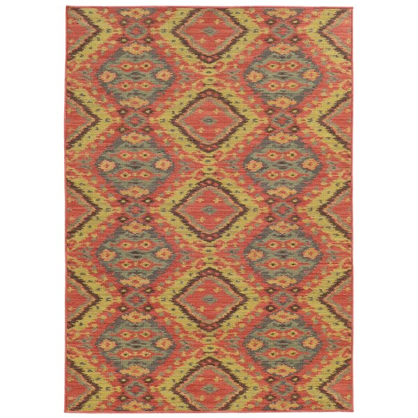 Tommy Bahama Cabana Pink / Blue Geometric Indoor/Outdoor Area Rug by Tommy Bahama Home