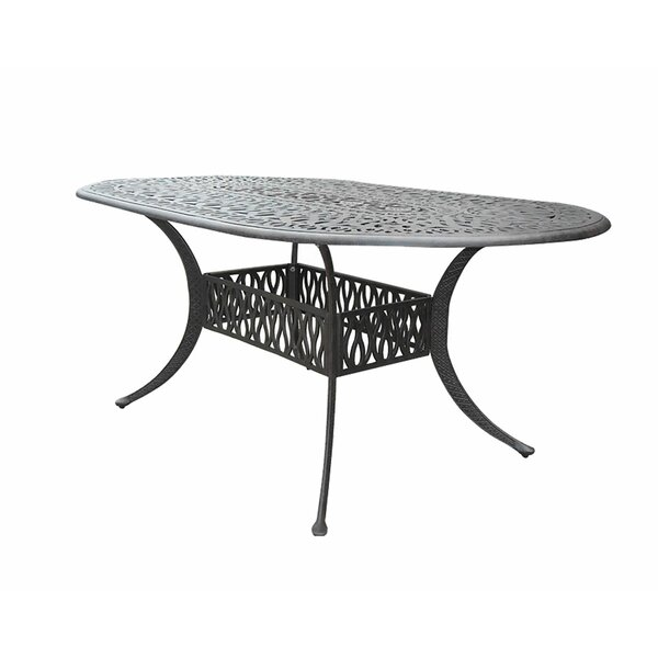 Nina Cast Aluminum Dining Table by Fleur De Lis Living