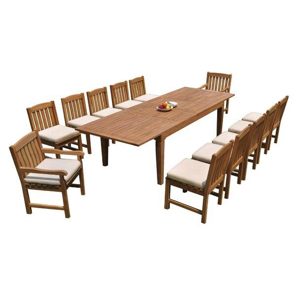 SantaAna 13 Piece Teak Dining Set by Rosecliff Heights