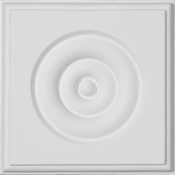 4 3/4H x 4 3/4W x 1 1/8D Waltz Bulls eye Plinth Block by Ekena Millwork