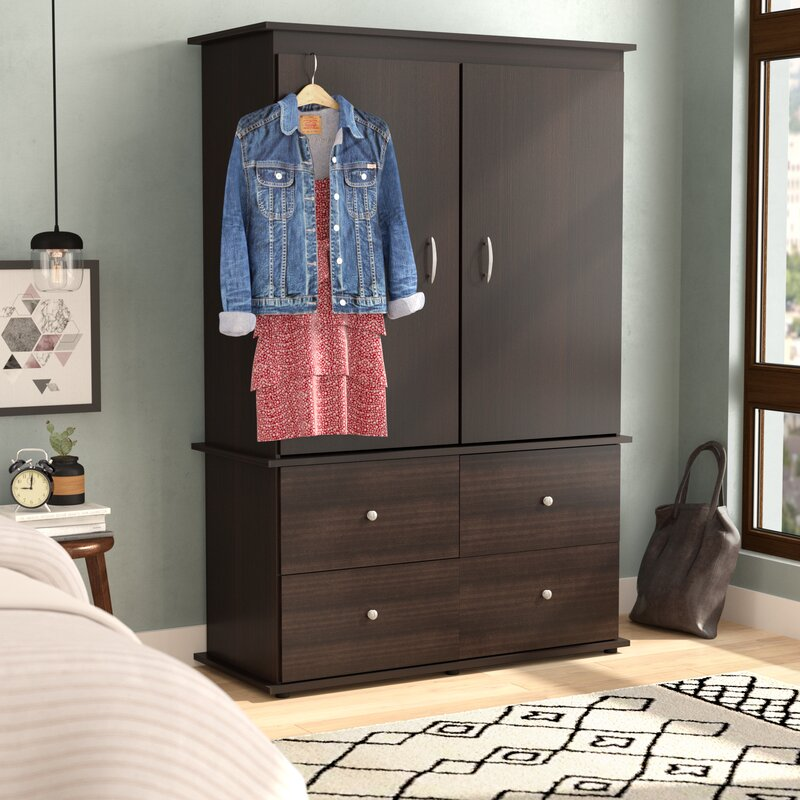 Brayden Studio Burditt TV-Armoire & Reviews | Wayfair