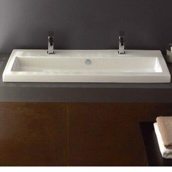 Series 40 Ceramic Rectangular Drop-In Bathroom Sink by Ceramica Tecla by Nameeks
