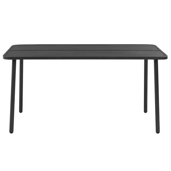Bardwell Steel Dining Table by Bay Isle Home