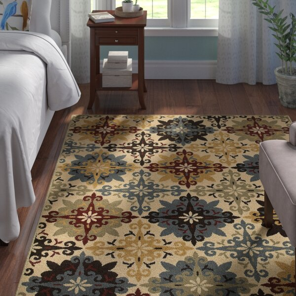 Bretton Geometric Ivory/Multi Area Rug by Andover Mills