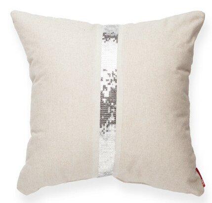 Luxury Cross Sequin Linen Throw Pillow by Posh365