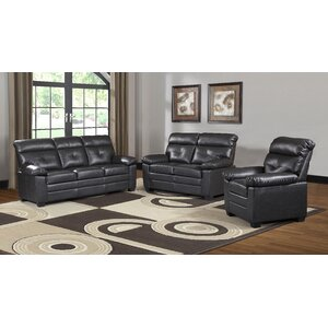 Judlaph Solid 3 Piece Living Room Set by Red Barrel Studio