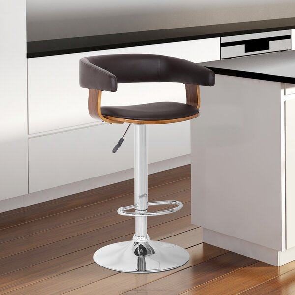 Terhune Adjustable Height Swivel Bar Stool by Orren Ellis