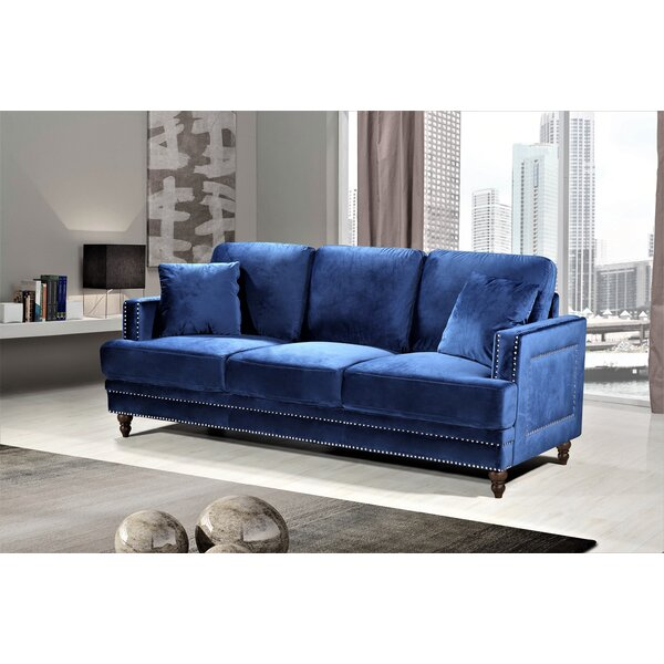 Awe Inspiring Blue Sofa With White Piping Wayfair Gmtry Best Dining Table And Chair Ideas Images Gmtryco